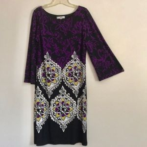 Lucy and Lauren 3/4 sleeves, midi dress Size 14